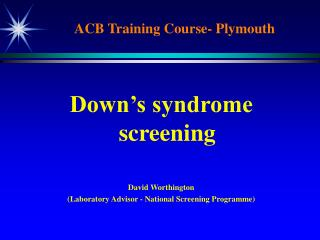 ACB Training Course- Plymouth