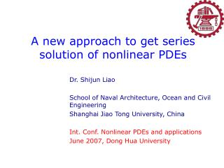 A new approach to get series solution of nonlinear PDEs