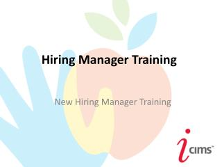 Hiring Manager Training