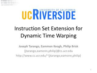 Instruction Set Extension for Dynamic Time Warping
