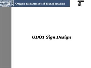ODOT Sign Design