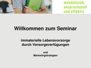 Willkommen zum Seminar