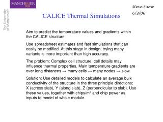 CALICE Thermal Simulations