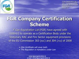 FGR Company Certification Scheme