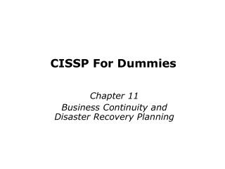 CISSP For Dummies