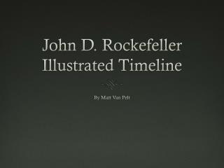 John D. Rockefeller Illustrated Timeline