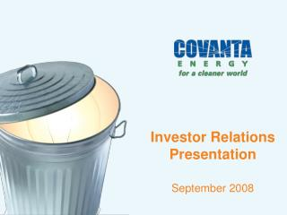 Investor Relations Presentation September 2008