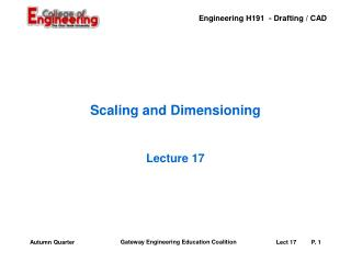 Scaling and Dimensioning
