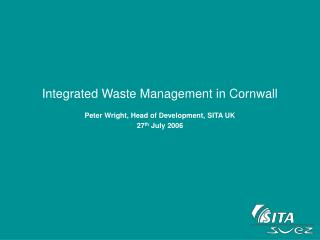 Integrated Waste Management in Cornwall