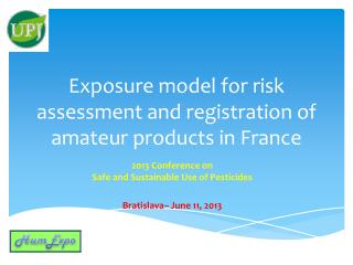 Exposure model for risk assessment and registration of amateur products in France