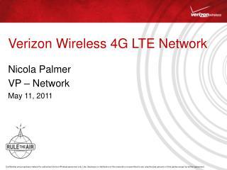 Verizon Wireless 4G LTE Network