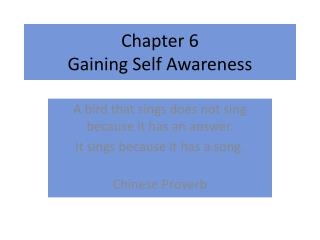 scores and gaining self awareness Gaining self-awareness gaining self-awareness recognize when you're off course identify your self-defeating patterns of thought share your life roles and scores.