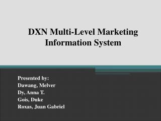 DXN Multi-Level Marketing Information System