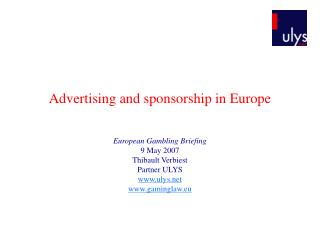 Advertising and sponsorship in Europe