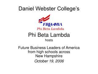 Daniel Webster College's Phi Beta Lambda hosts