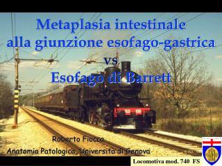 Metaplasia intestinale alla giunzione esofago-gastrica vs Esofago di Barrett