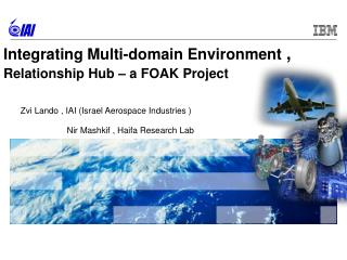 Integrating Multi-domain Environment  ,  Relationship Hub – a FOAK Project
