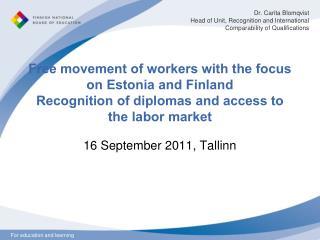 16 September 2011, Tallinn