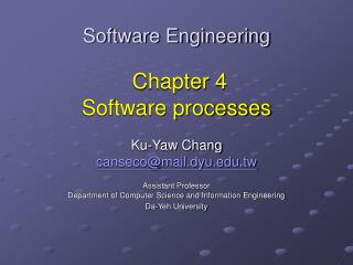 Software Engineering Chapter 4  Software processes