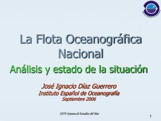 La Flota Oceanográfica Nacional