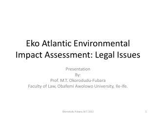 Eko Atlantic Environmental Impact Assessment: Legal Issues