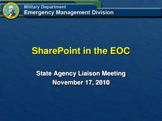 SharePoint in the EOC