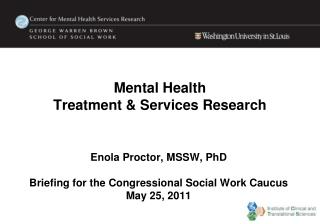 Mental Health  Treatment &  Services Research