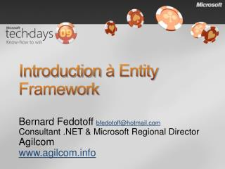 Introduction   Entity Framework