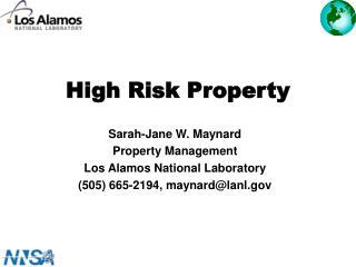 High Risk Property