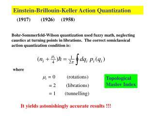 Einstein-Brillouin-Keller Action Quantization