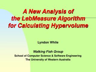 A New Analysis of the LebMeasure Algorithm for Calculating Hypervolume