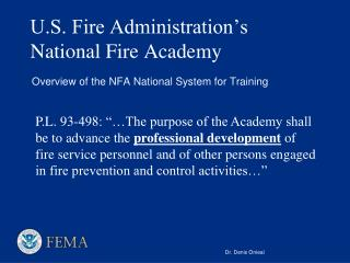 U.S. Fire Administration's National Fire Academy