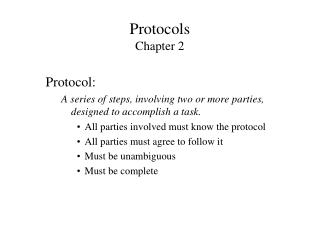 Protocols  Chapter 2