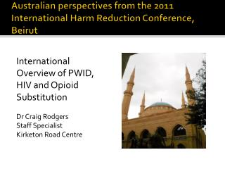 Australian perspectives from the 2011 International Harm Reduction Conference, Beirut