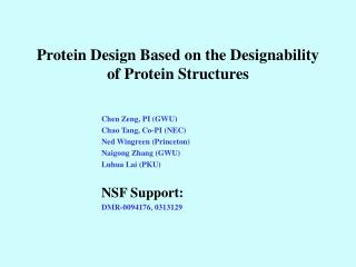 Protein Design Based on the Designability of Protein Structures