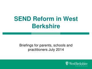 SEND Reform in West Berkshire