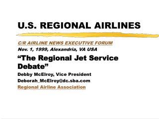 U.S. REGIONAL AIRLINES