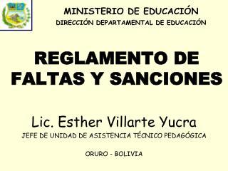 REGLAMENTO DE  FALTAS Y SANCIONES