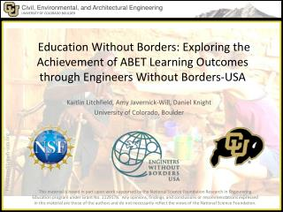 Kaitlin Litchfield, Amy  Javernick -Will, Daniel Knight University of Colorado, Boulder