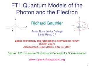 FTL Quantum Models of the Photon and the Electron