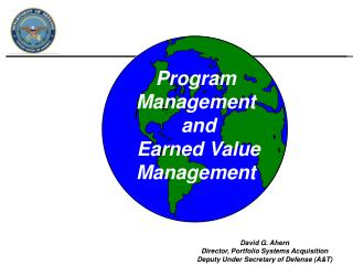 Program Management  and  Earned Value Management
