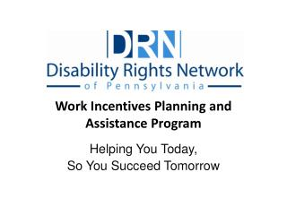 Work Incentives Planning and Assistance Program