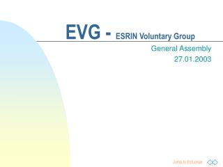 EVG -  ESRIN Voluntary Group