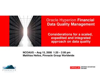 Oracle Hyperion  Financial Data Quality Management