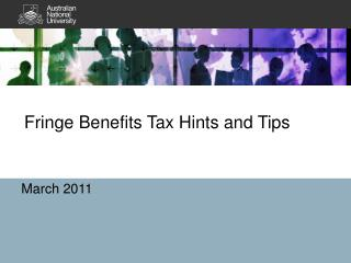 Fringe Benefits Tax Hints and Tips