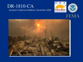DR-1810-CA  Southern California Wildfires, November 2008