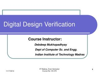 Digital Design Verification