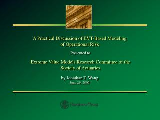 A Practical Discussion of EVT-Based Modeling of Operational Risk