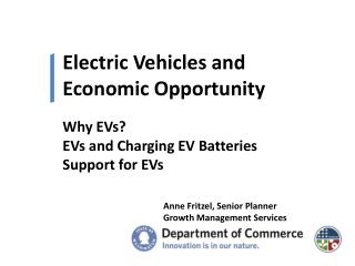 Electric Vehicles and  Economic Opportunity
