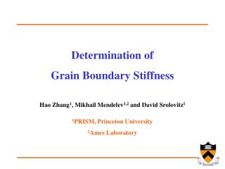 Determination of  Grain Boundary Stiffness